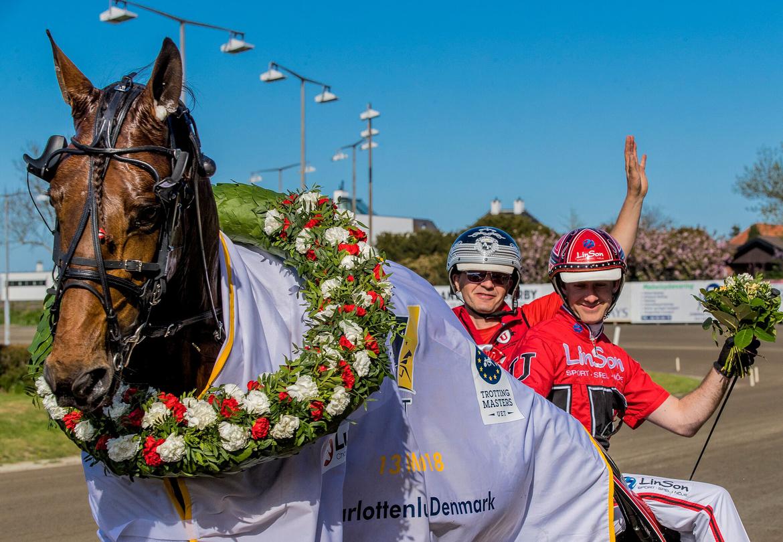 Cyber Lane och Johan Untersteiner vann Copenhagen Cup 2018. Burt Seeger TR Bild.