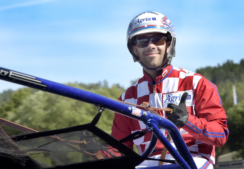 Claes Sjöström vann fem lopp på Visbytravet. Lars Jakobsson TR Bild.