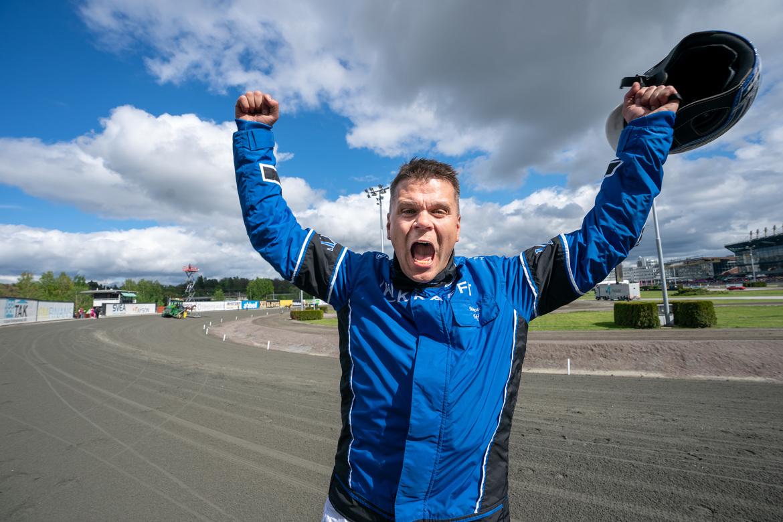 Magnus Träff jublar efter segern med Queer Fish i Sweden Cup i fjol.  Thomas Blomqvist/TR Bild.