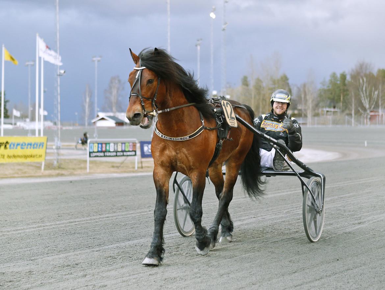Tangen Haap och Björn Karlsson efter segern i Dubbelcupens final på Romme