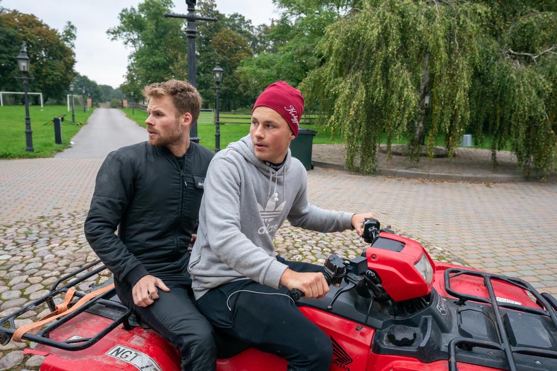 Dante och Adrian Kolgjini kör två hästar vardera på V75. Thomas Blomqvist TR Bild.