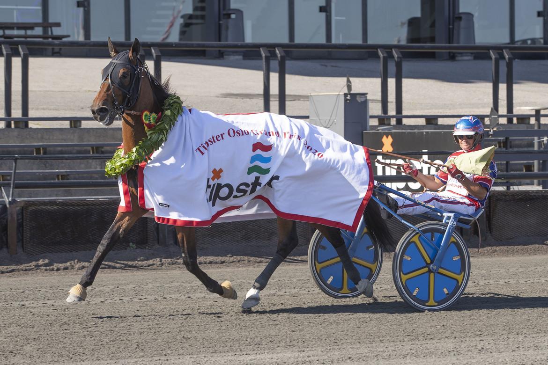 Ble du Gers vann Oslo GP på löpningsrekordet 1.10,0. Hesteguiden/TR Bild.