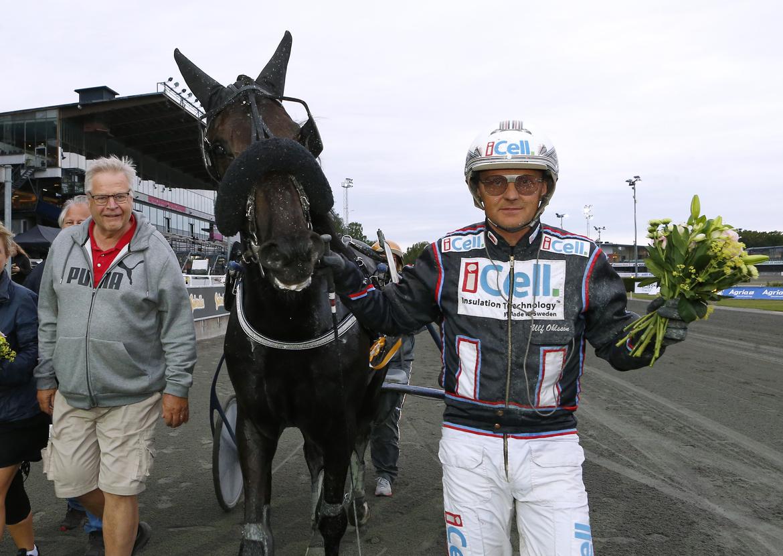 The Bald Eagle efter en seger på Solvalla förra sommaren för Ulf Ohlsson.