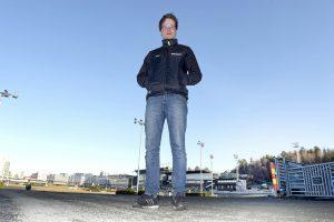 Oscar Berglund inför en start på Solvalla. På söndag tävlar han i Boden.