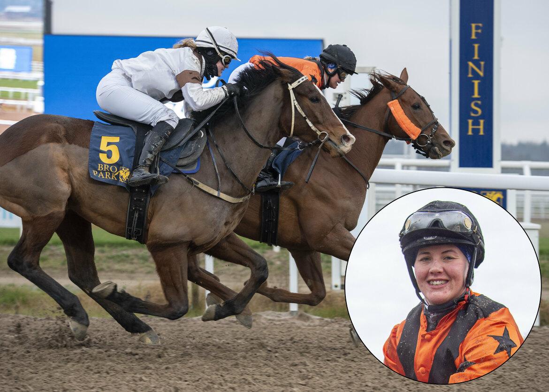 Elin Ahlin rider Sheperd Gate till en knapp med ganska säker seger på Bro Park.