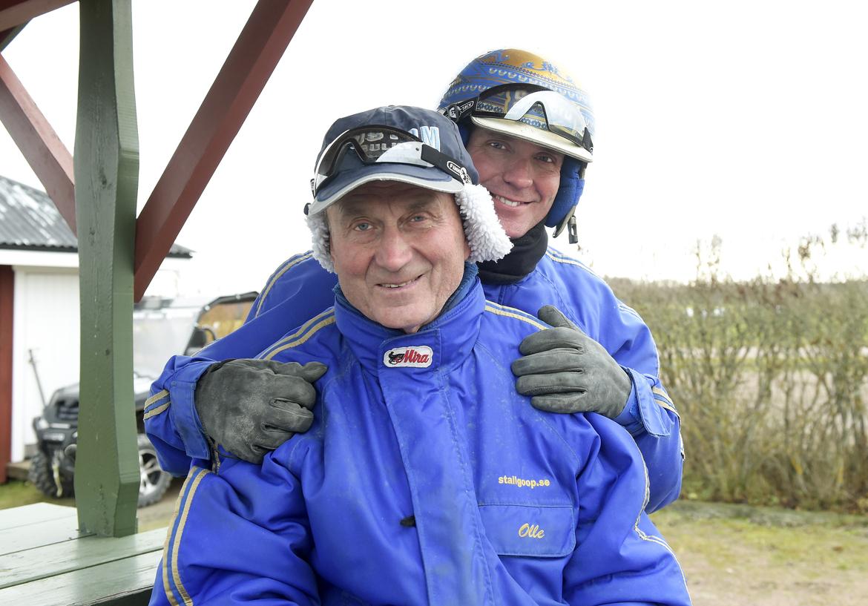 Björn Goop med pappa Olle på en bild från 2018.