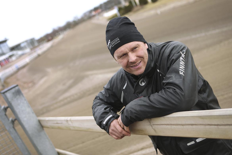 Thomas Madsen tror på toppchans för sin Lilo Love I V75-4. Maria Holmén/TR Bild.