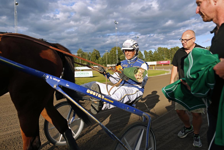 Leif Witasp efter en seger sommaren 2020.