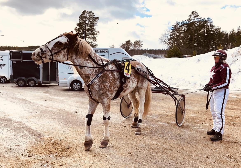 Jessica Lindgren och Skräcken efter det lyckade debutloppet i Umeå.