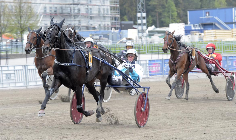 Admiral As och Örjan Kihlström favoriter i V86-3, Lars Jakobsson TR Bild.