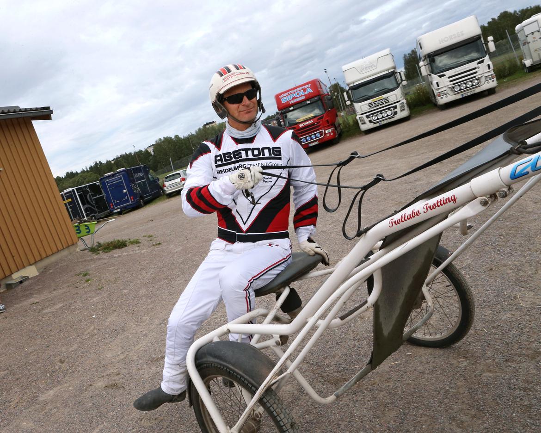 Fredrik Persson har stora förhoppningar på söndagens V75® i Kalmar.