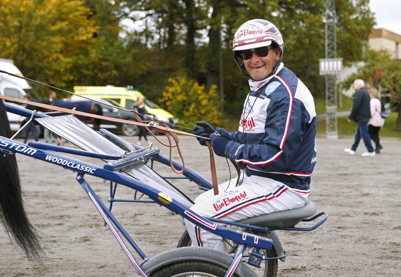 Reijo Liljendahl tror hårt på sina två hästar på V75 på lördag. Maria Holmén/TR Bild.