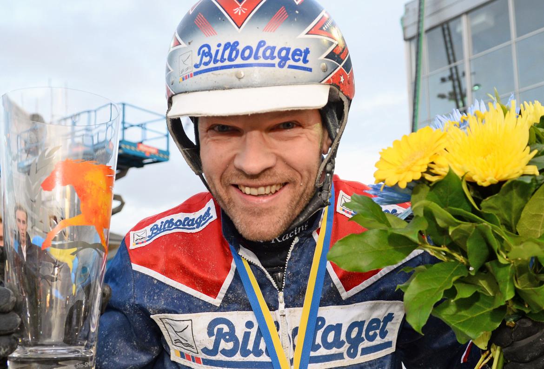 Micael Melander bjöd på två riktiga överraskningar när V64 Xpress avgjordes på fredagskvällen. Lars Jakobsson/TR Bild.