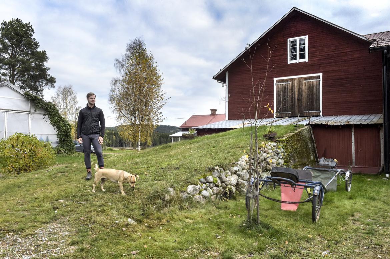 Simon Wall hemma på gården Ljuva-Tun. Lars Jakobsson TR Bild.